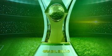 Taça do Brasileirão no centro de um estádio de futebol. Fantasy Arena 22