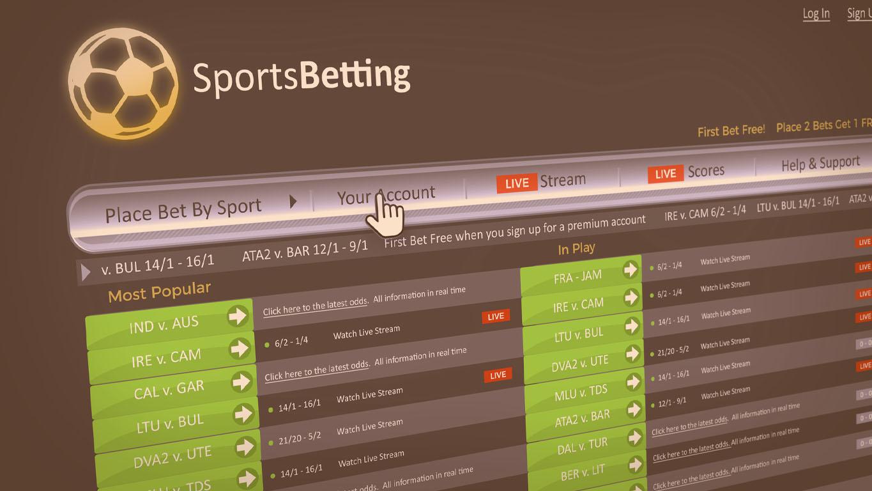 Apostas esportivas: Um site de apostas fictício com dados fictícios.