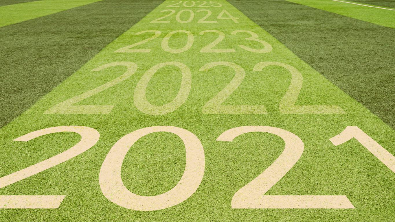 Número do campo de futebol de 2021 a 2025