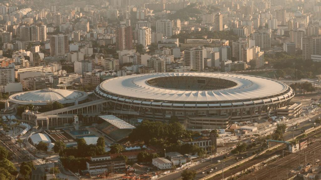 imagem aérea do estádio maracanã