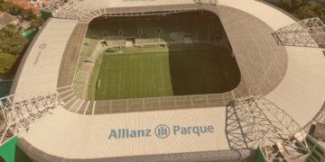 imagem aérea Estádio Allianz Parque