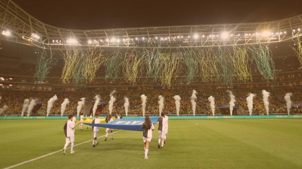 Imagem do jogo do Brasil no estádio Allianz Parque